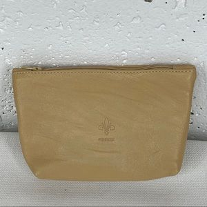 Firenze Small Camel Color Leather Pouch